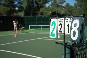 Match Tennis Court Frankreich